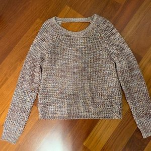 super warm sweater! multi-colored, worn once